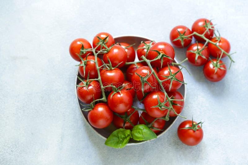 organiska tomater f?r Cherry arkivfoton