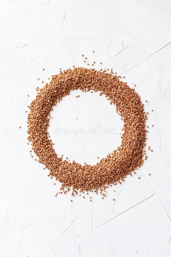 Organiskt boveteslut upp och bästa sikt, matbakgrund med utrymme för text royaltyfri foto