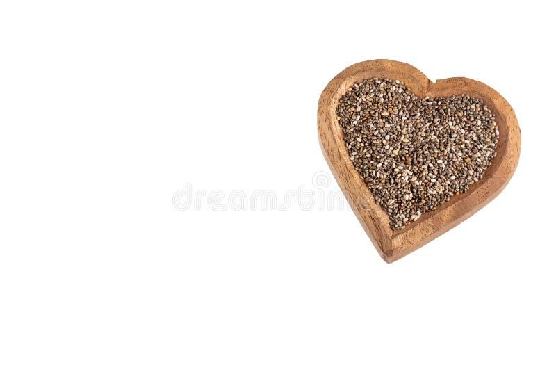 Organiskt chiafr? - Salvia hispanica Textutrymme arkivfoto