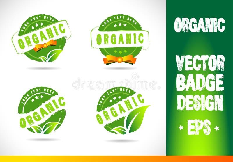 Organiskt emblem Logo Vector royaltyfri illustrationer