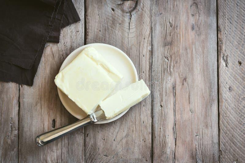Organiskt smör royaltyfri foto