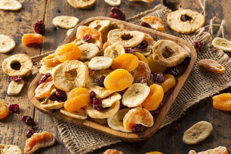 Organiskt torkat sunt blandat - frukt royaltyfri bild