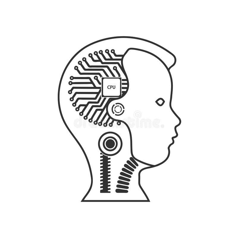 organismo cibernético del robot stock de ilustración