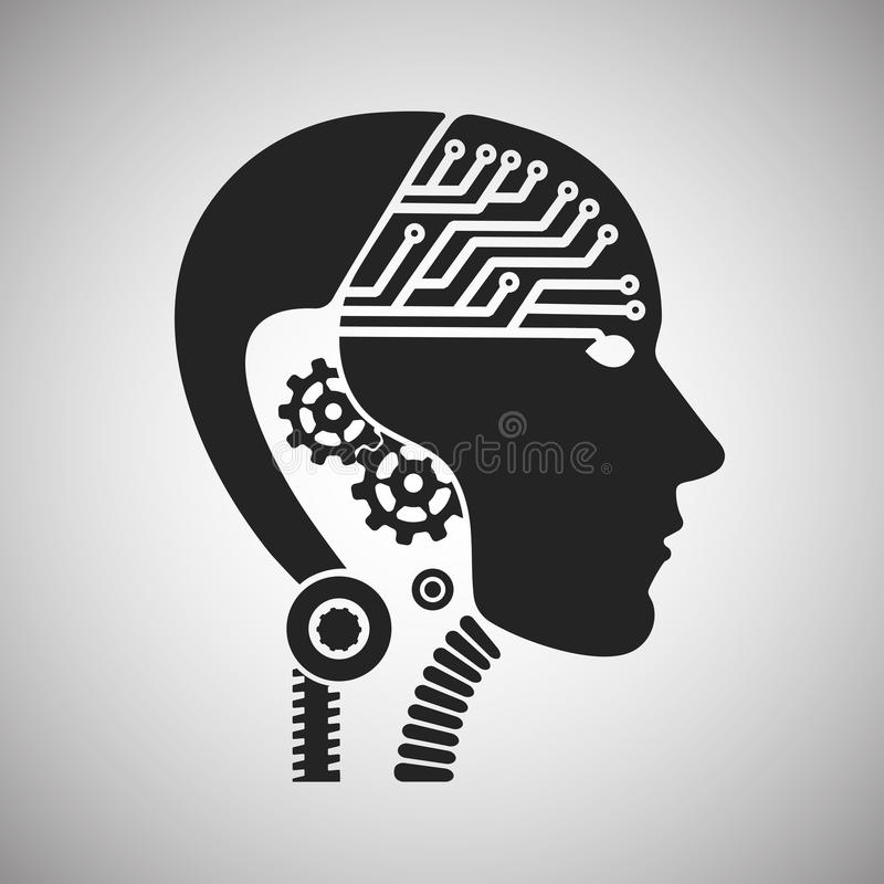 organismo cibernético del robot ilustración del vector