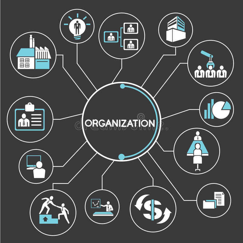 Organización ilustración del vector