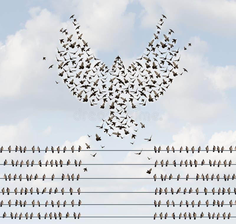 Organización acertada stock de ilustración
