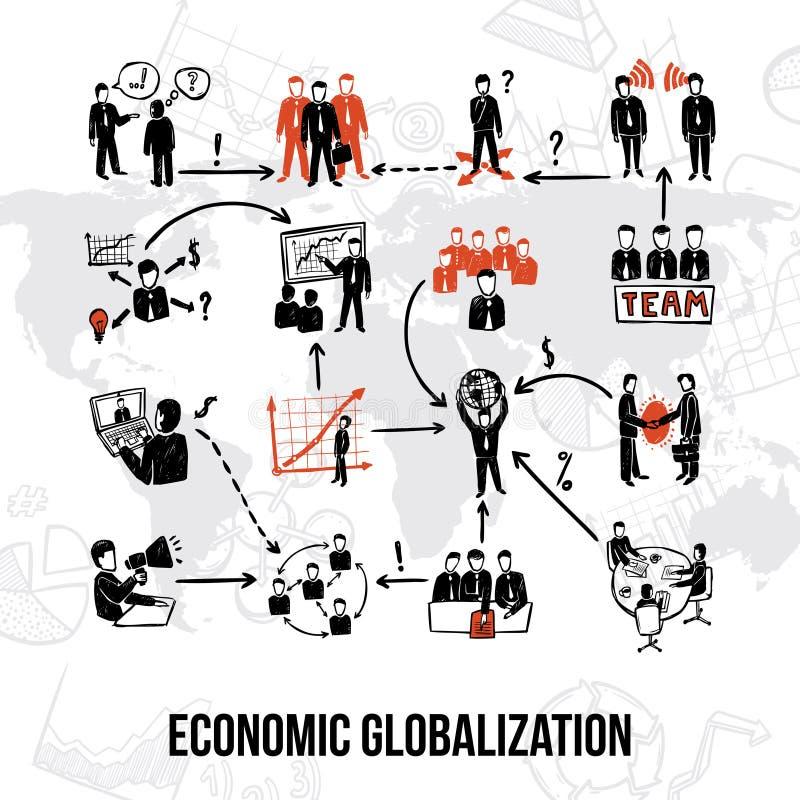 Organización de la empresa Infographics libre illustration