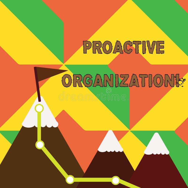 Organización dinámica del texto de la escritura de la palabra Concepto del negocio para la acción y resultar comportamiento or libre illustration