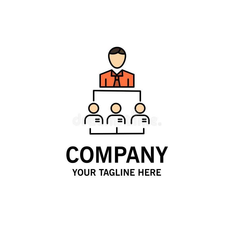 Organización, negocio, ser humano, dirección, negocio Logo Template de la gestión color plano libre illustration