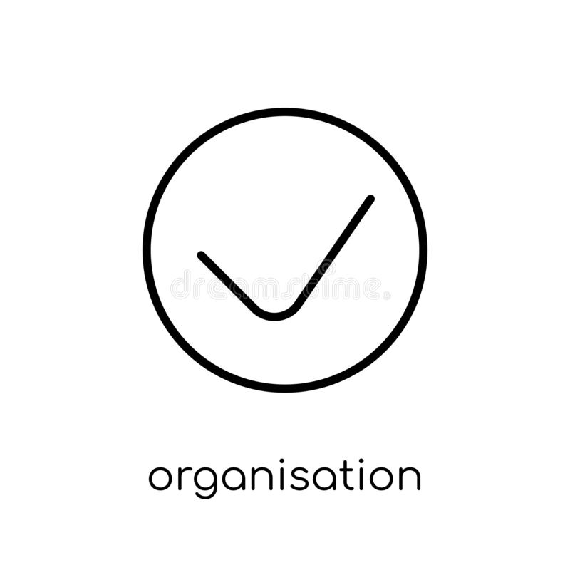 Organización para el icono de la cooperación económica y del desarrollo Tren libre illustration