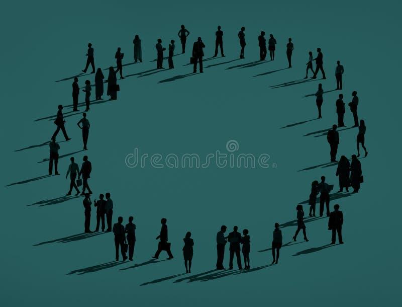 Organización Team Concept de las relaciones de negocios de la comunidad stock de ilustración