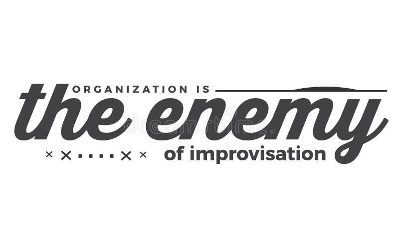 Organizacja wróg improwizacja ilustracja wektor