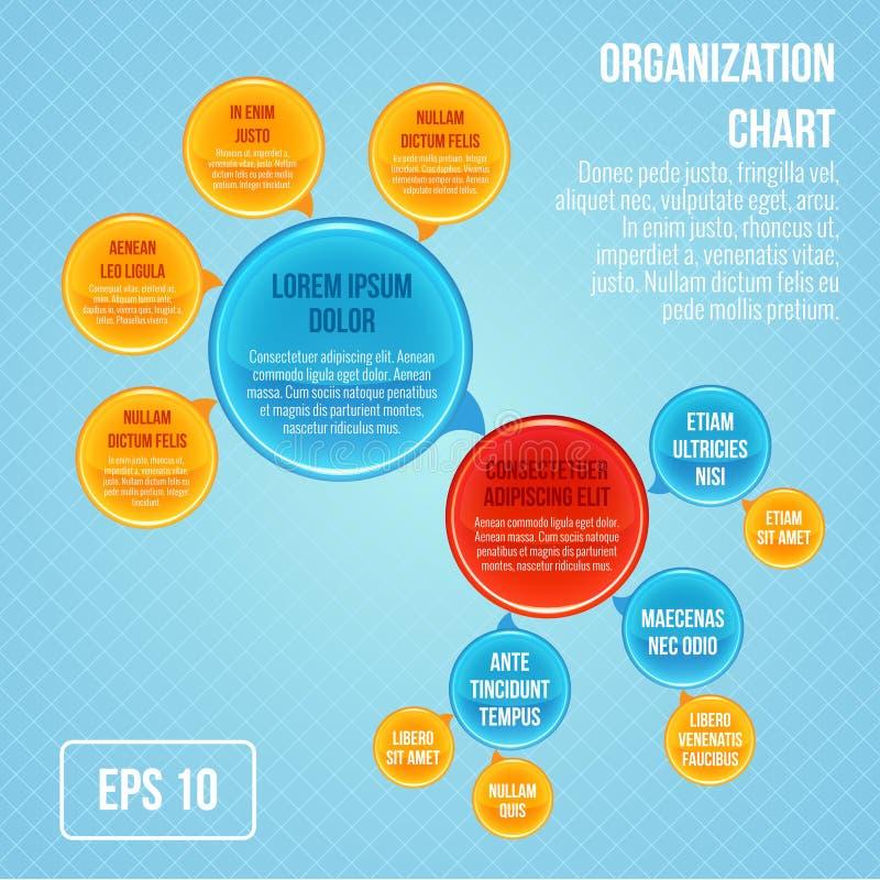 Organizacyjna mapa infographic ilustracja wektor