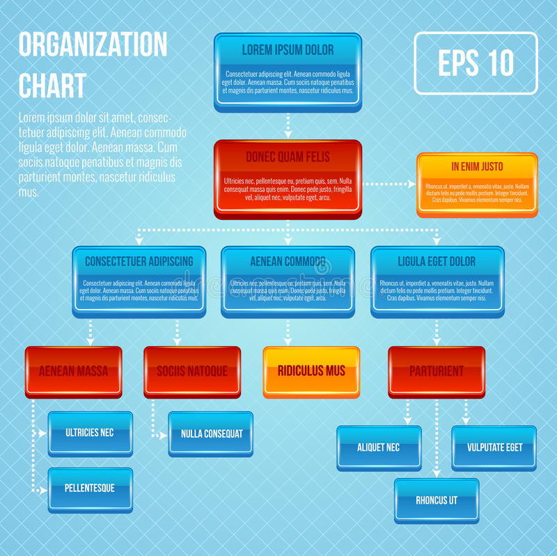 Organizacyjnej mapy 3d pojęcie ilustracja wektor