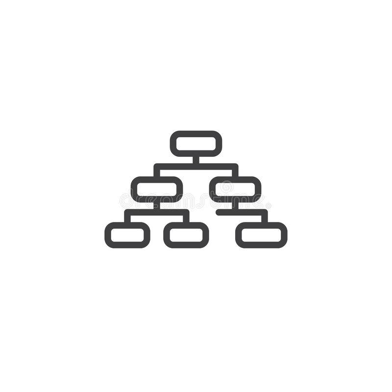 organizacyjnej mapy linii ikona ilustracja wektor
