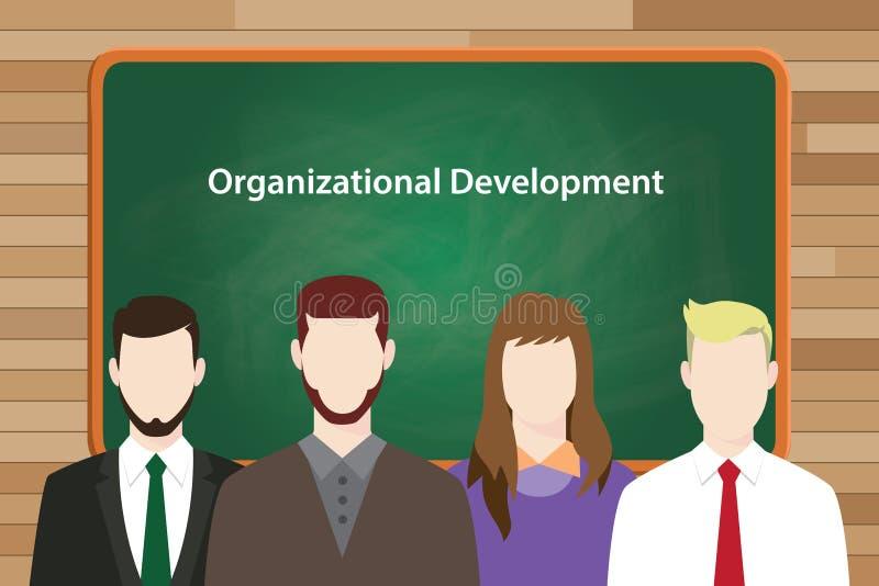 Organizacyjny program rozwoju ilustrujący w wektorowym obrazku royalty ilustracja