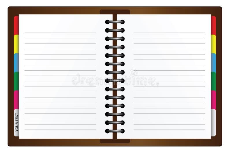 Organizador ilustração do vetor