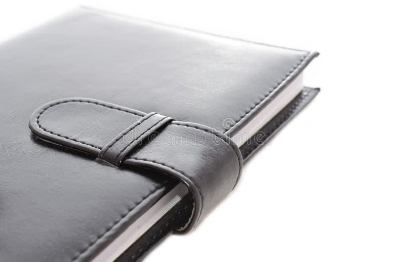Organizador de couro preto fotografia de stock