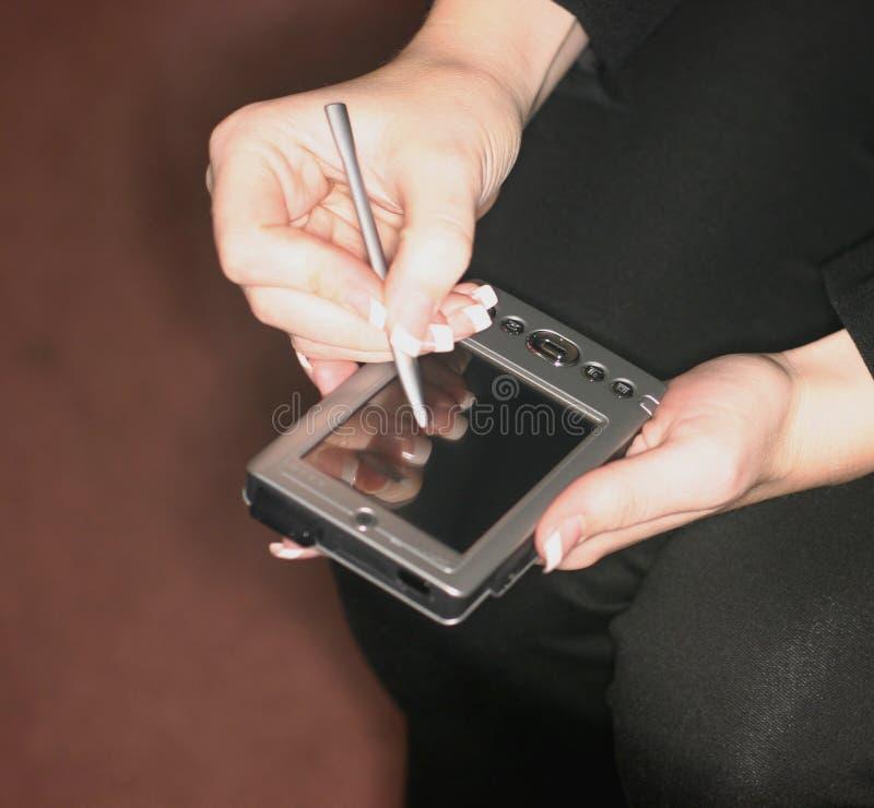Organizador de PDA imagen de archivo libre de regalías