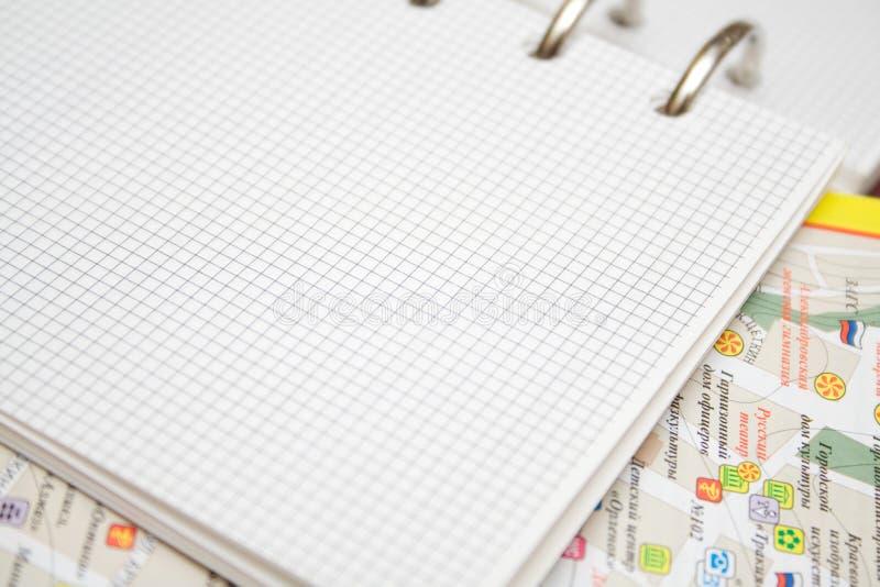 Organizador e mapa imagens de stock