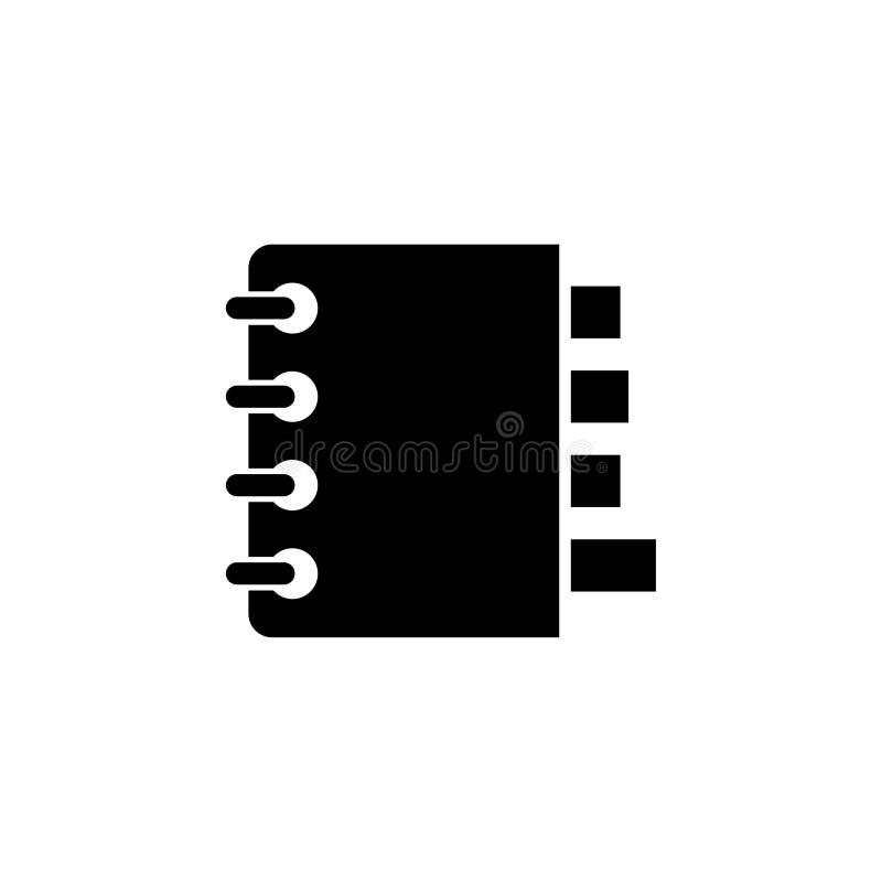 Organizador Flat Vetora Icon do caderno ilustração stock