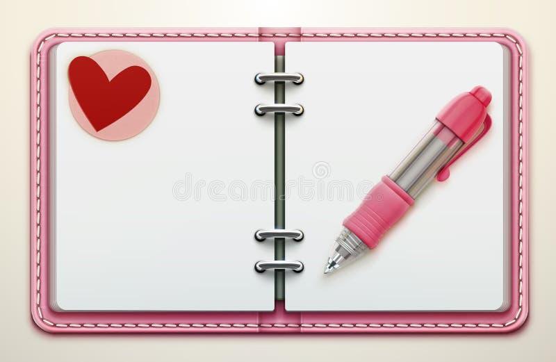 Organizador personal ilustración del vector