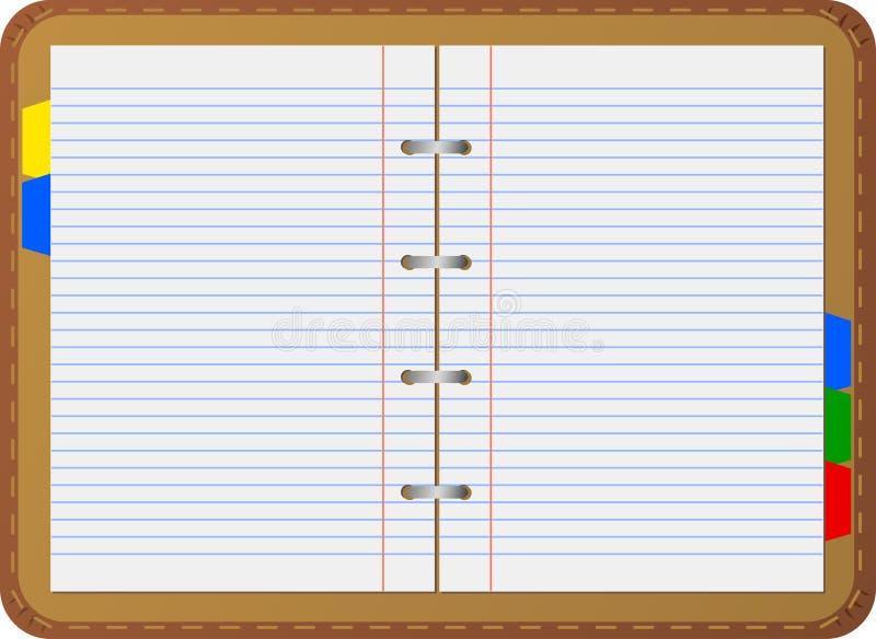 Organizador pessoal (caderno) ilustração do vetor