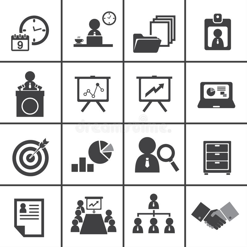 Organization And Business Management Icon Set Stock Vector