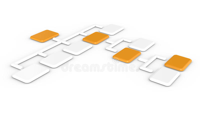 Organization Chart royalty free illustration