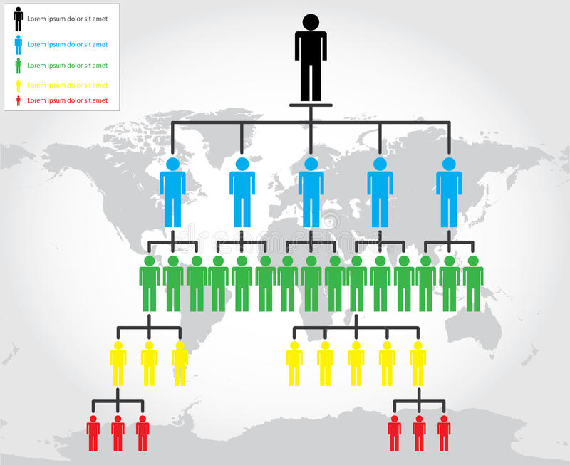 Organization chart. For your business stock illustration