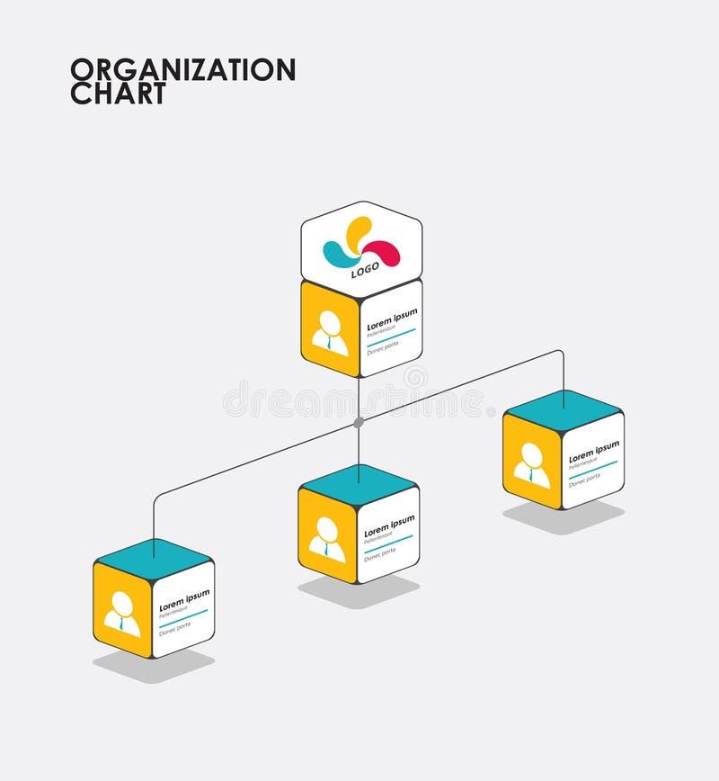 Organization chart infographics with tree, Diagram flow. vector. Illustration stock illustration