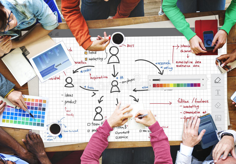 Organization Chart Management Planning Concept royalty free stock photo