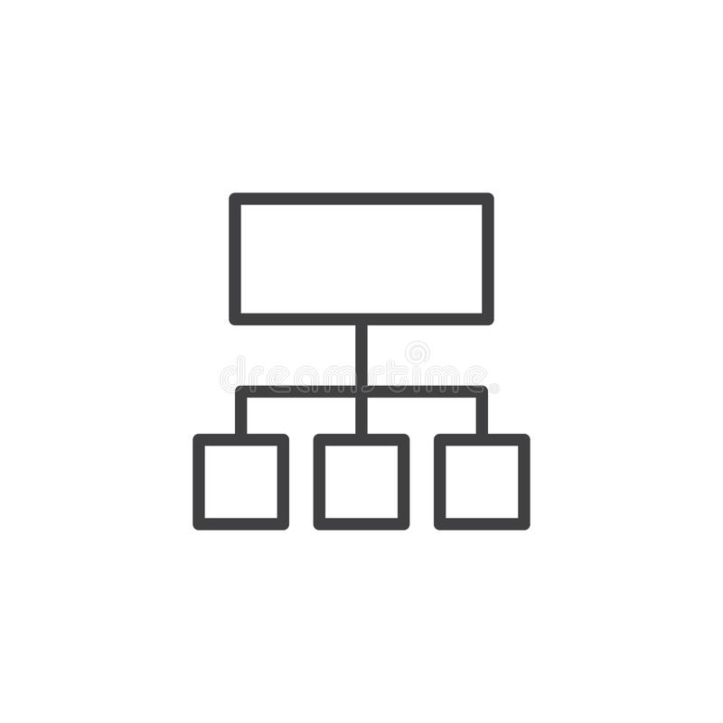Organization chart outline icon royalty free illustration