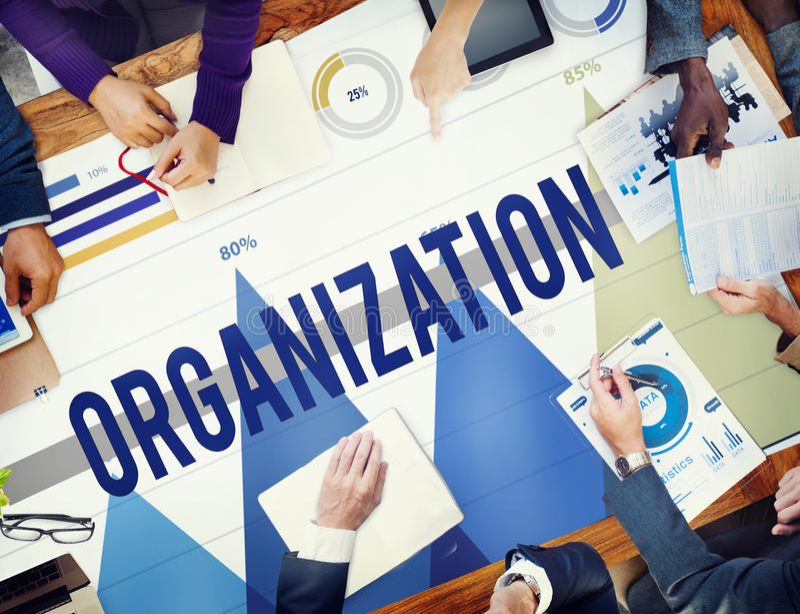 Organization Company公司团体公司网概念 免版税库存图片