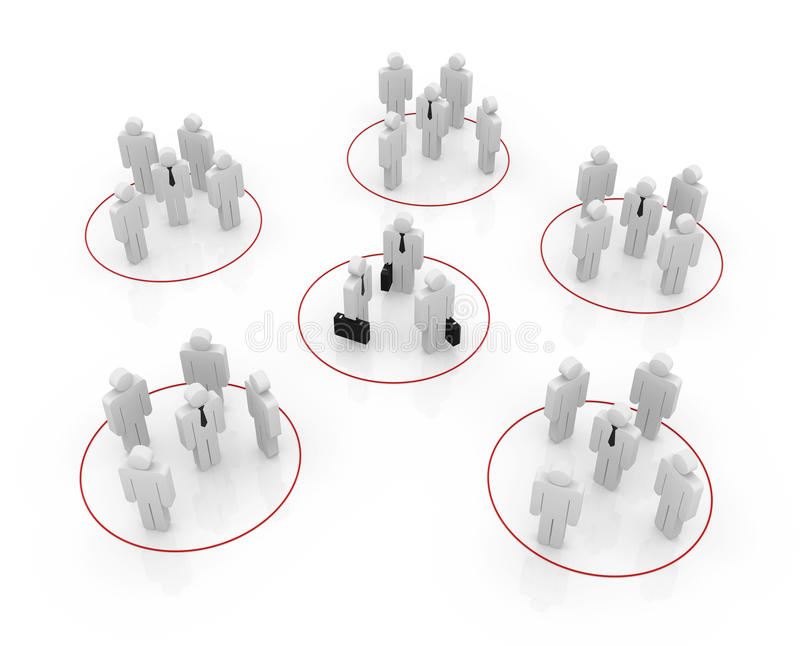 Organization concept stock illustration