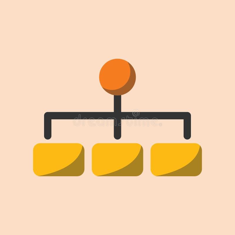Organization hierarchy flat icon vector illustration vector illustration