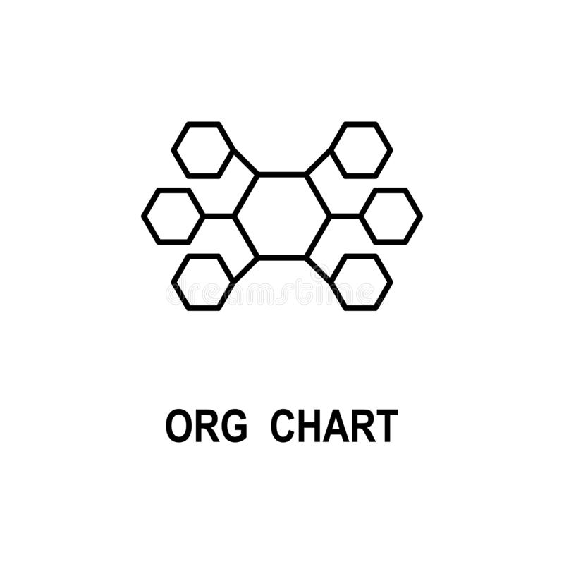 Organizational chart icon. Element of business structure icon for mobile concept and web apps. Thin line organizational chart icon. Can be used for web and royalty free illustration