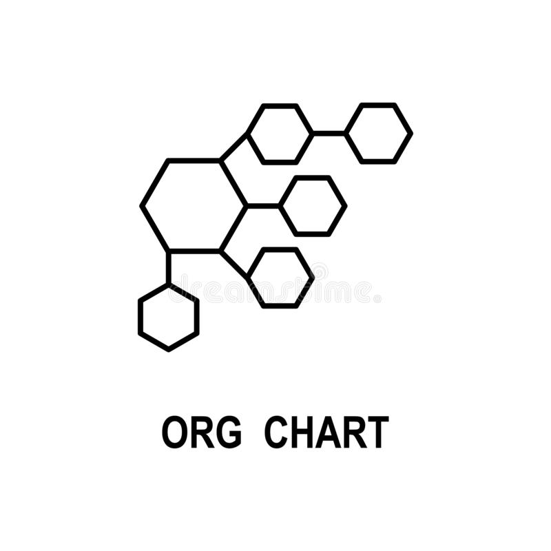 Organizational chart icon. Element of business structure icon for mobile concept and web apps. Thin line organizational chart icon stock illustration