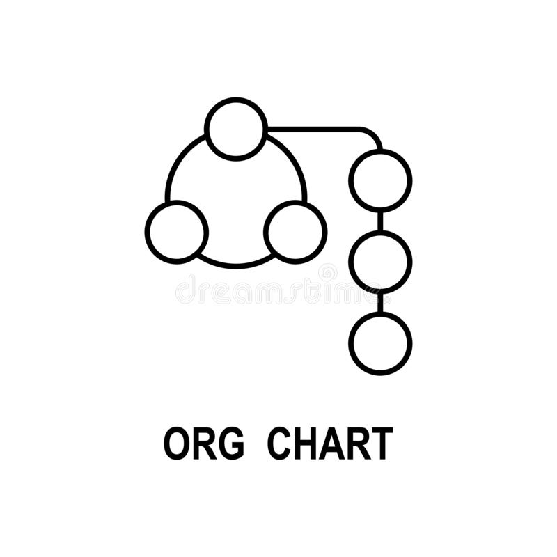Organizational chart icon. Element of business structure icon for mobile concept and web apps. Thin line organizational chart icon. Can be used for web and vector illustration