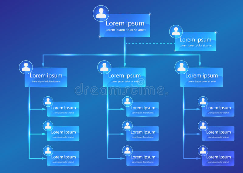 Organizational chart infographic stock photo