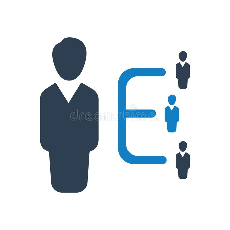 Organizational Structure Icon, Employee management icon. You can use this icon any kind of web and print design stock illustration
