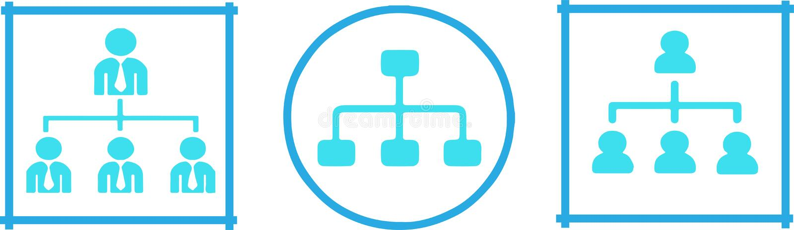 Organizational structure icon on white background.  vector illustration