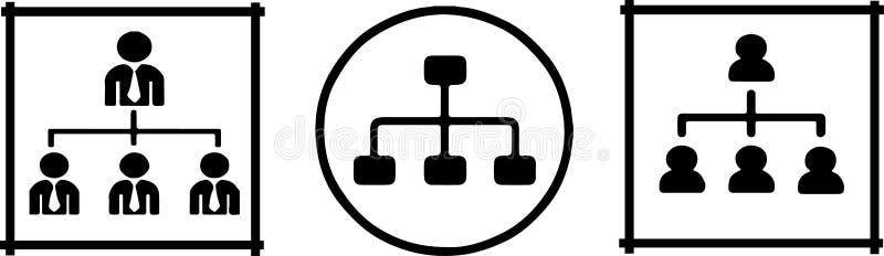 Organizational structure icon on white background stock illustration