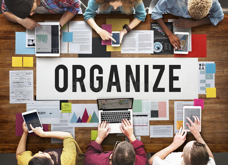 Organize Notice Project Schdule Style Vision Concept royalty free stock photography