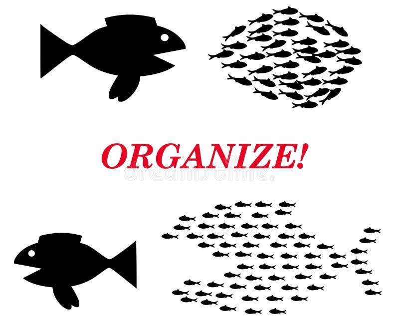 Organize o conceito ilustração stock