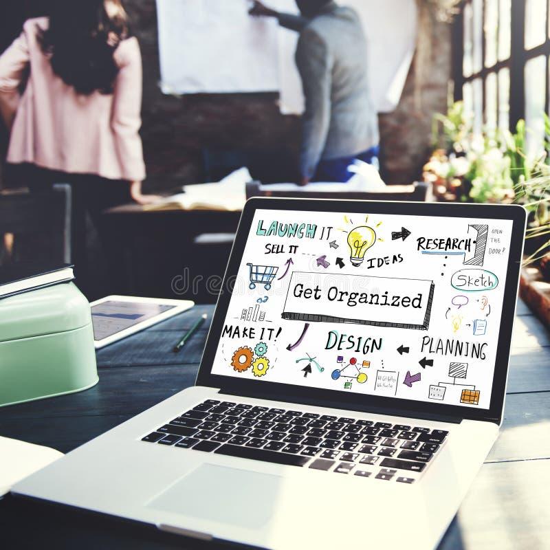 Organize o conceito do tumulto do processo do plano de desenvolvimento imagens de stock
