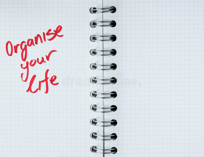 Download Organize Your Life - Notebook Note Stock Image - Image: 988955