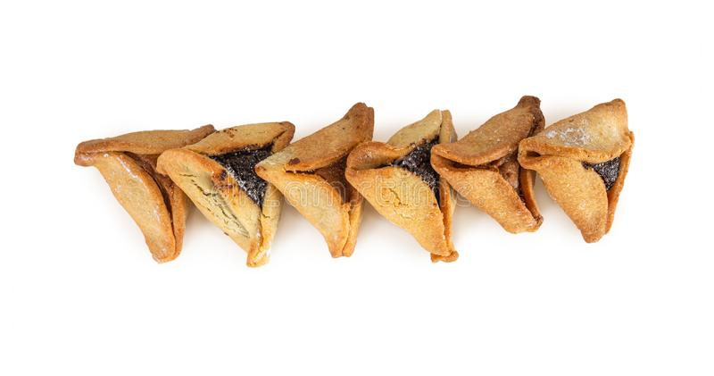 Haman`s ears are also called Hamantaschen - a traditional Jewish pastry for Purim holiday. royalty free stock photography