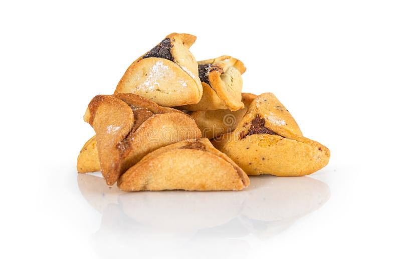 Haman`s ears are also called Hamantaschen - a traditional Jewish pastry for Purim holiday. royalty free stock photo
