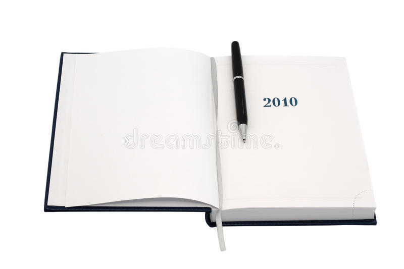 Download Organizer For 2010. With Black Pen. Stock Image - Image: 12162375